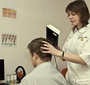 Диагностика волос у мужчин